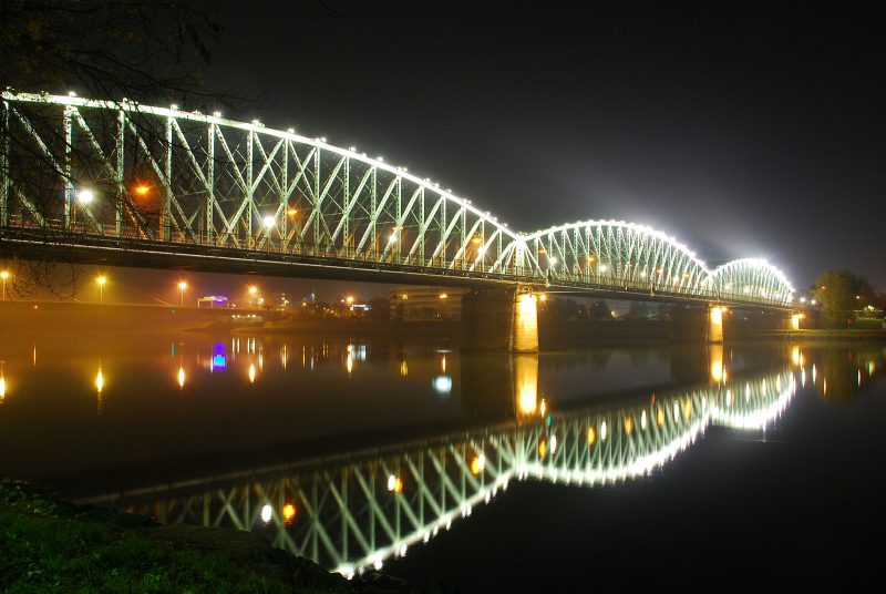 Da stand sie noch: die altehrwürdige Linzer Eisenbahnbrücke