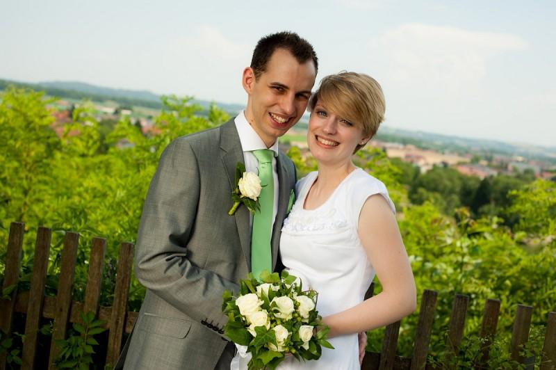 Einsatz als Hochzeitsfotograf bei einem Hochzeitsfotoshooting in Enns mit Theresa und Michael