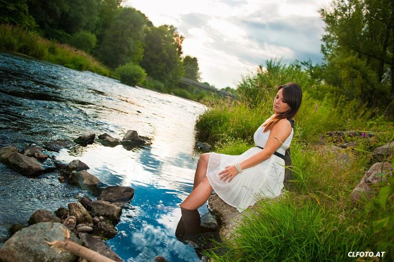 Im Einsatz als Fotograf im Bezirk Perg: Sommershooting mit Sabrina am Donau-Altarm