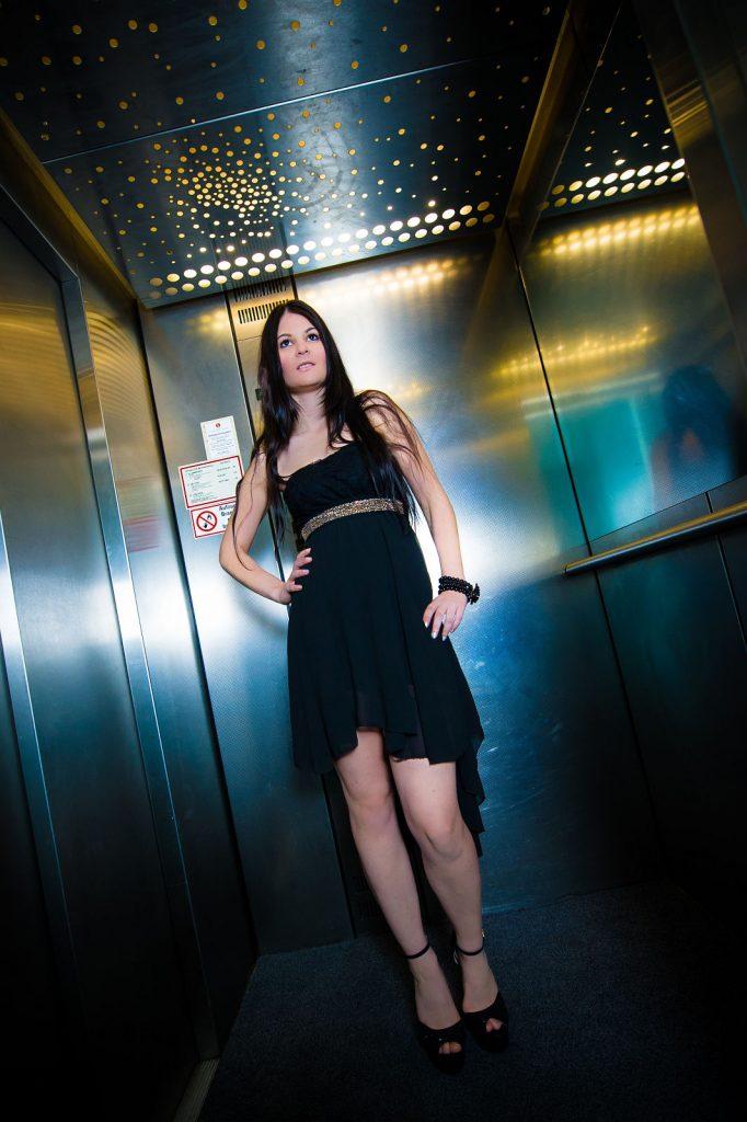 Portrait im Fahrstuhl