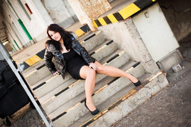 Kühles Fotoshooting in Linz mit Sabrina