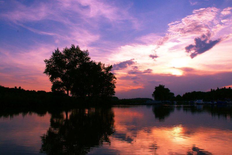 Sonnenuntergang in Au an der Donau