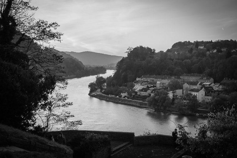 Blick vom Linzer Schlossberg auf die Donau